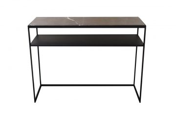 JaxxChoice Lev sidetable marmer Anthracita Dark