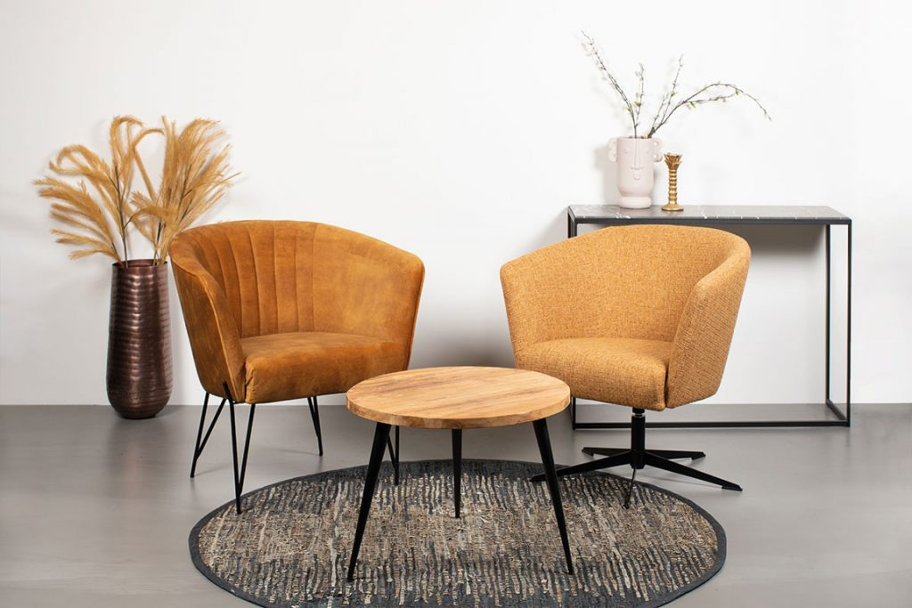 JaxxChoice fauteuil Sid en Liv in chrono cinnamon detail