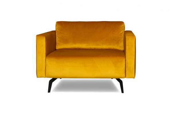 JaxxChoice loveseat Kate in stof Juke Gold